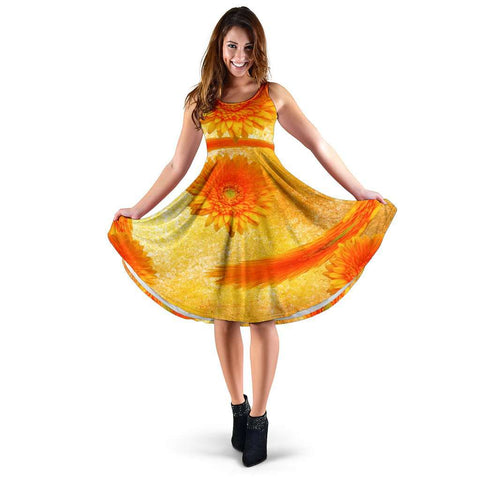 Image of Orange Flower Dress