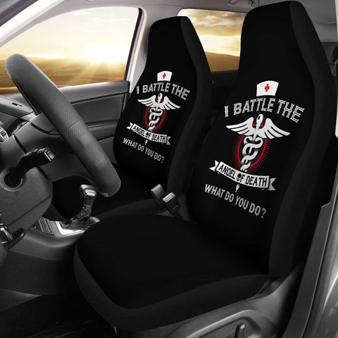 Image of Angel of Death Nurse Car Seat Covers