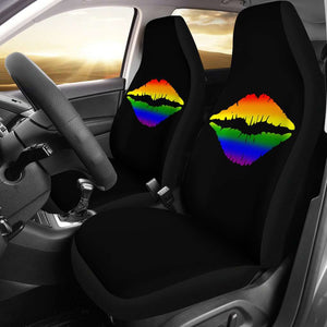 LGBT Pride Lovers Lips Car Seat Covers