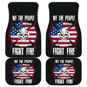 Firefighter Fight Fire Front And Back Car Mats Set Of 4