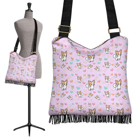 Chihuahua Dog Crossbody Boho Handbag
