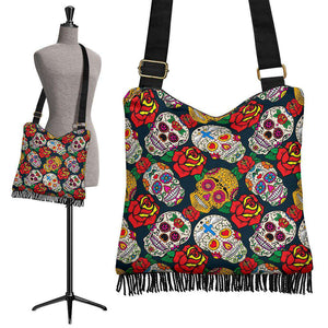 Sugar Skulls Crossbody Boho Handbag