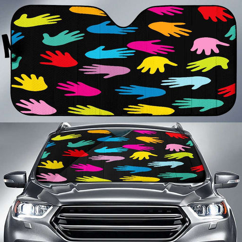 Image of Autism Hands Auto Sun Car Shades