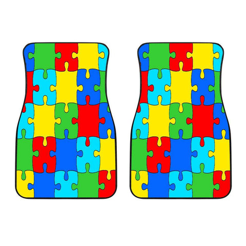 Image of Autism Jigsaw Puzzle Front Car Mats