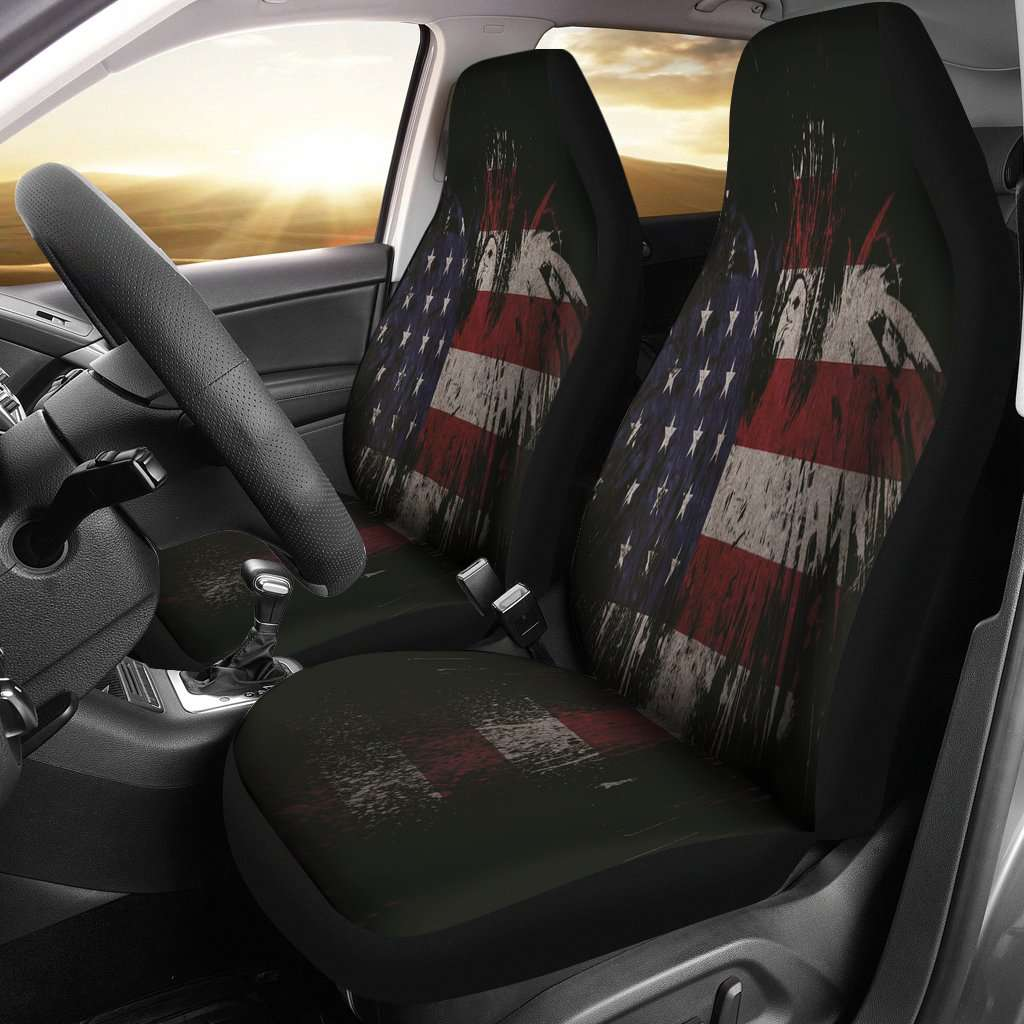 USA Eagle Flag Car Seat Covers