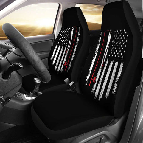 Image of Fishing Flag Car Seat Covers