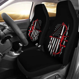 Bow Hunter Flag Car Seat Covers