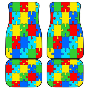 Autism Jigsaw Puzzle Front And Back Car Mats