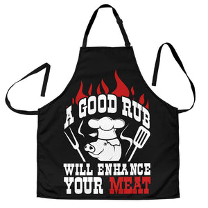 A Good Rub Will Enhance Your Meat BBQ Apron