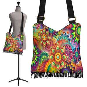 Colorful Abstract Crossbody Boho Bag