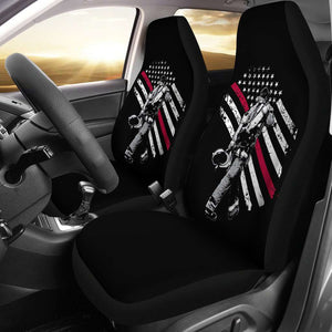 Firefighter Exclusive Thin Red Line Flag Car Seat Covers