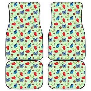 Butterfly Garden Car Mats 4 Set