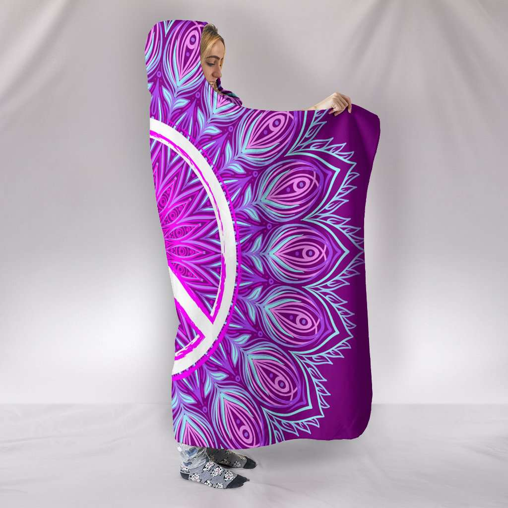 Purple Peace Hooded Blanket