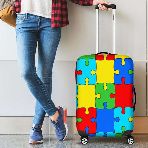 Image of Autism Jigsaw Puzzle Luggage Covers