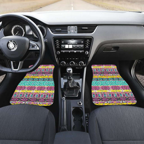 Boho Art Front Car Mats Set Of 2