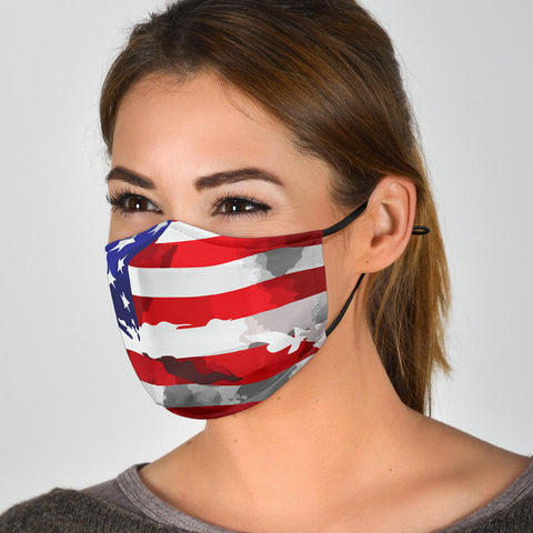 Face Masks With Filters Usa Flag