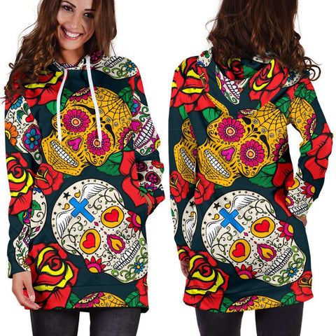 Image of Sugar Skull Hoodie Dress