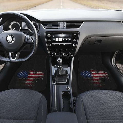 USA Eagle Flag Front Car Mats