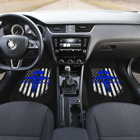 Nurse Flag Blue Symbol Front Car Mats (Set Of 2)