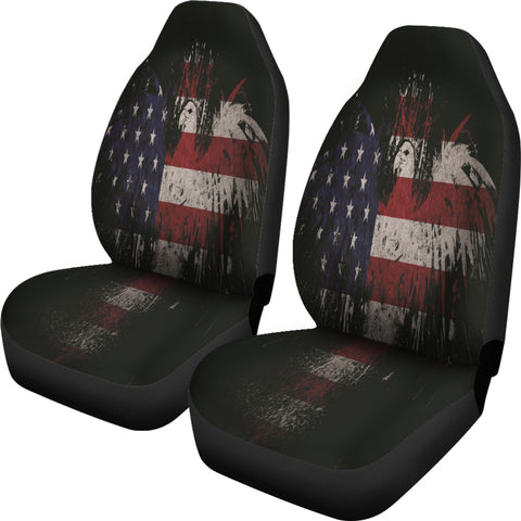 Image of USA Eagle Flag Car Seat Covers