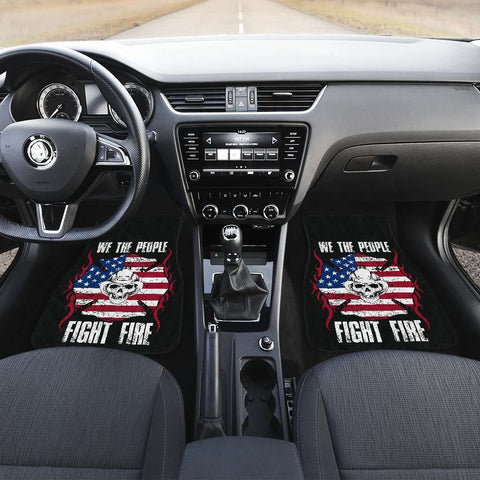 Image of Firefighter Fight Fire Front And Back Car Mats Set Of 4