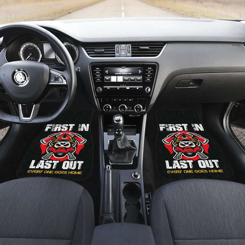 Image of Firefighter First In Last Out Car Mats Set of 4