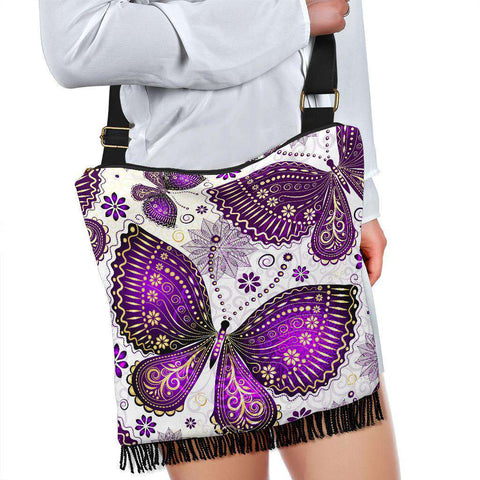 Image of Butterfly Crossbody Boho Bag