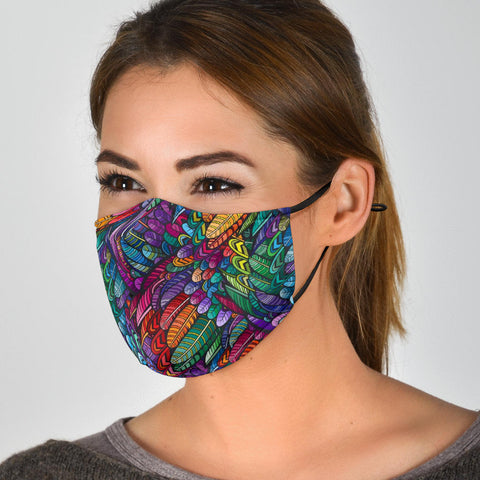 Boho Feather Face Masks With Filters
