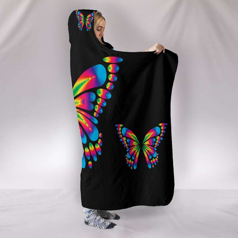 Image of Autism Awareness Butterfly Hooded Blanket