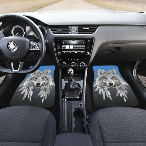 Spirit Animal Wolf Car Mats