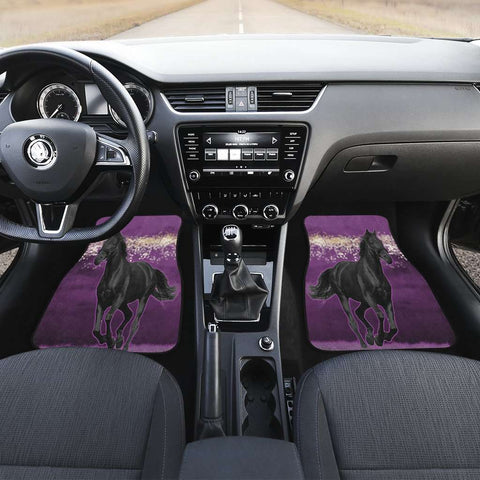 Image of Horse Pink Front Car Mats Set of Two