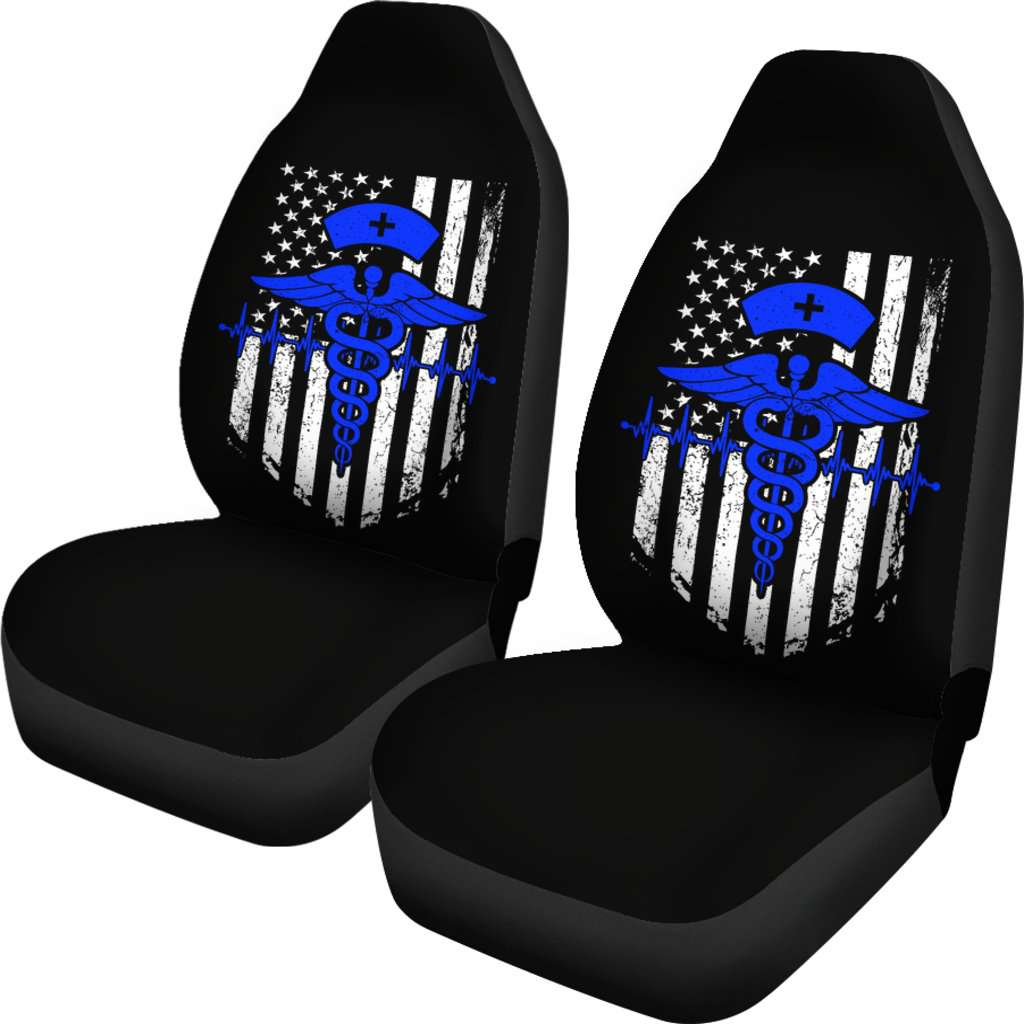 Nurse Flag Blue Symbol Car Seat Covers