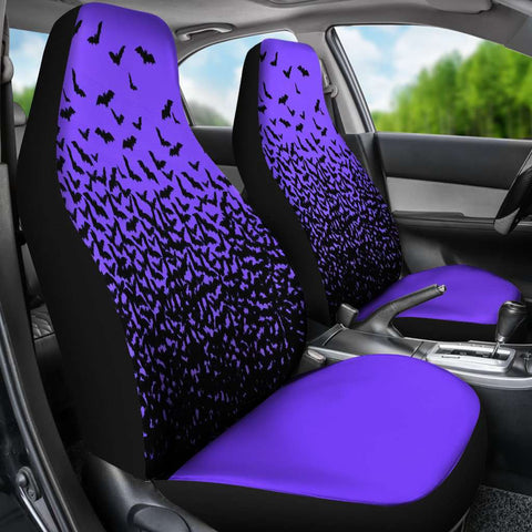 Image of Halloween Bats Purple Car Seat Covers