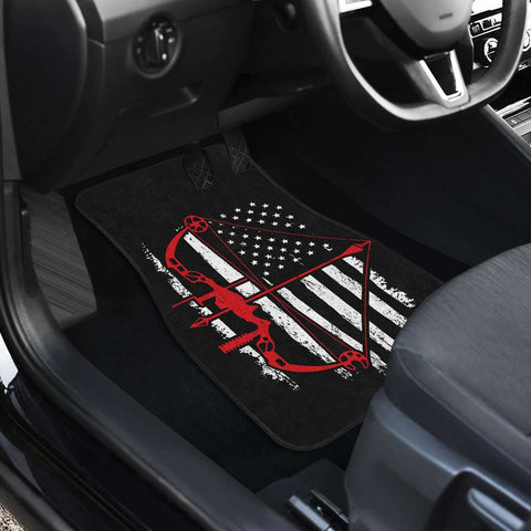 Image of Bow Hunter Flag Front Car Mats