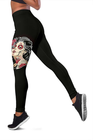 Sugar Skull Fitness Leggings