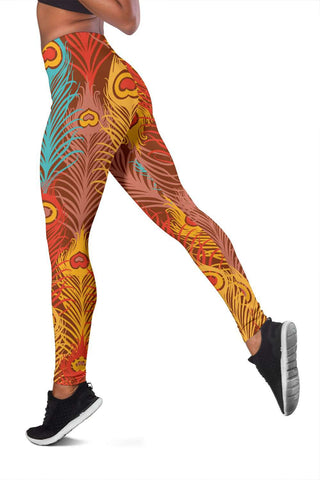 Colorful Peacock Leggings