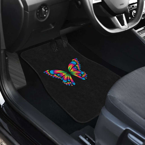 Image of Autism Awareness Butterfly Front And Back Car Mats set of 4