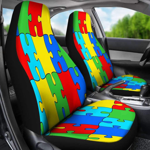 Autism Jigsaw Puzzle Car Seat Covers