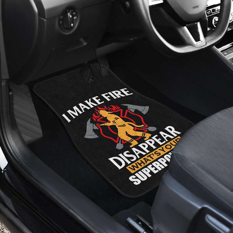 Firefighter Front And Back Car Mats Set Of 4