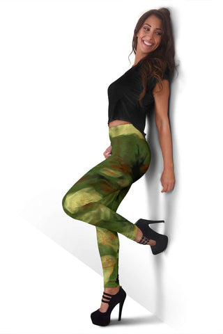 Abstract Camo Hidden Skulls Leggings