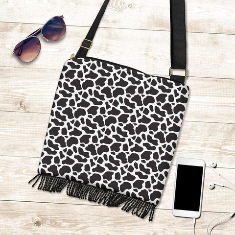 Image of Cow Print Boho Handbag