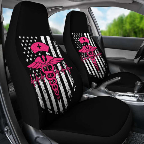 Image of Nurse Flag Pink Symbol Car Seat Covers