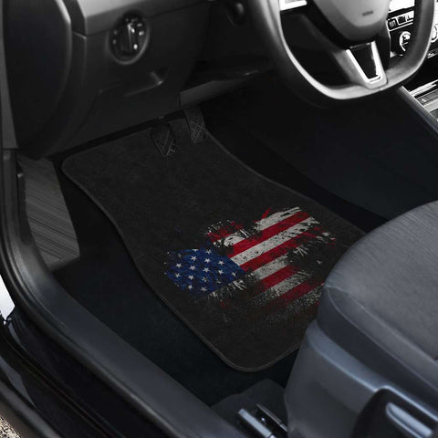 Image of USA Eagle Flag Front Car Mats