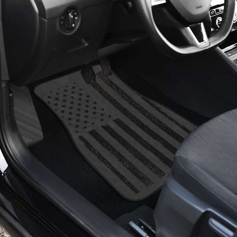 Image of USA Flag Front and Back Car Mats set of 4