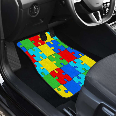 Image of Autism Jigsaw Puzzle Front And Back Car Mats