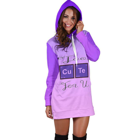 Too Cute For you Hoodie Dress for Lovers of Chemistry and Physics