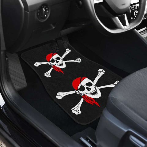 Image of Pirate Skull And Crossbones Front And Back Car Mats (Set Of 4)