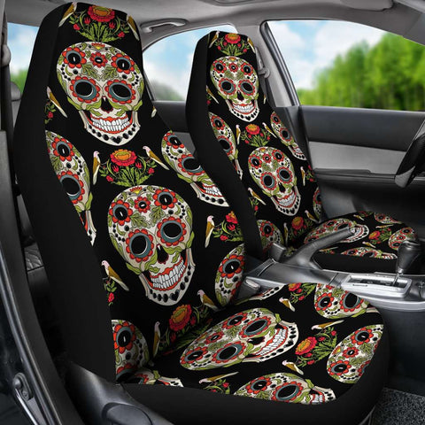 Image of Skull Car Seat Covers