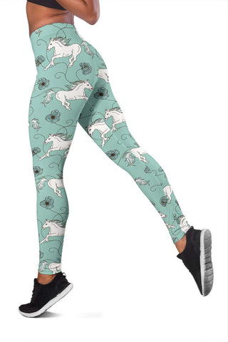 Green Horse Leggings