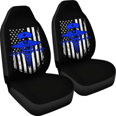 Image of Nurse Flag Blue Symbol Car Seat Covers